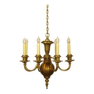 8 arm colonial style chandelier