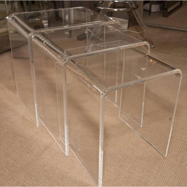 Superb set of three mid century lucite nesting tables decaso set of three mid century lucite nesting tables image 4 of 6 watchthetrailerfo