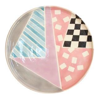 Vintage Riki Moss Ceramic Pottery Plate Tray 80s Post Modern