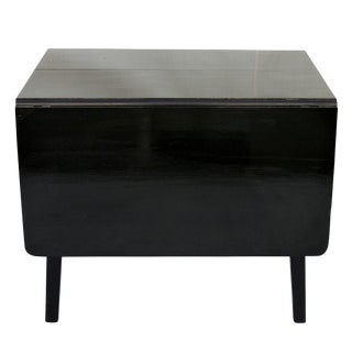Black High Gloss Drop Leaf Table