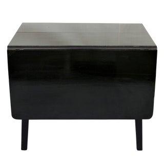 Black High Gloss Drop Leaf Table