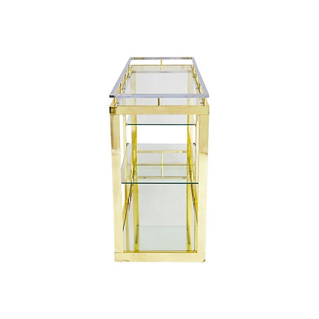 Brass & Chrome Cocktail Trolly - Image 4 of 9