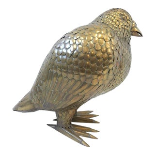 Large Brass Bird Sculpture by Sergio Bustamante