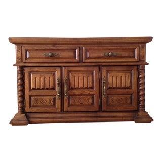 Vintage Italian Renaissance Style Carved Maple Sideboard