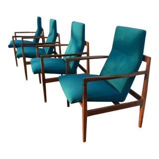 Vintage Amp Used Blue Dining Chairs Chairish