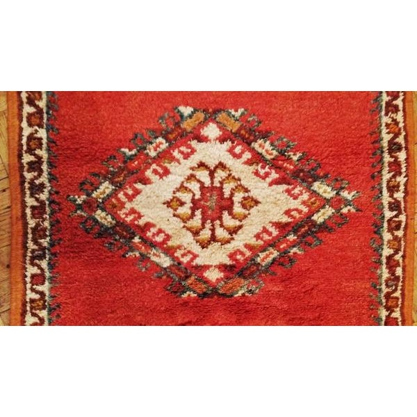 Coral And Turquoise Hallway Runner Pile Rug