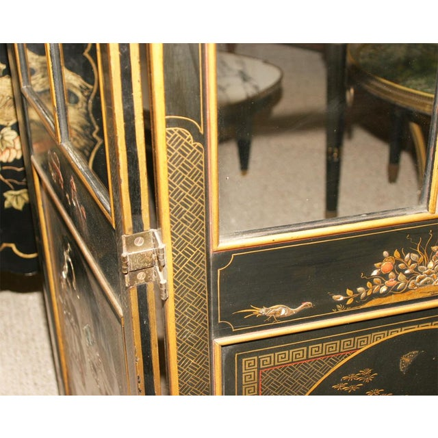Image of Jansen 3-Panel Chinoiserie Glass Screen