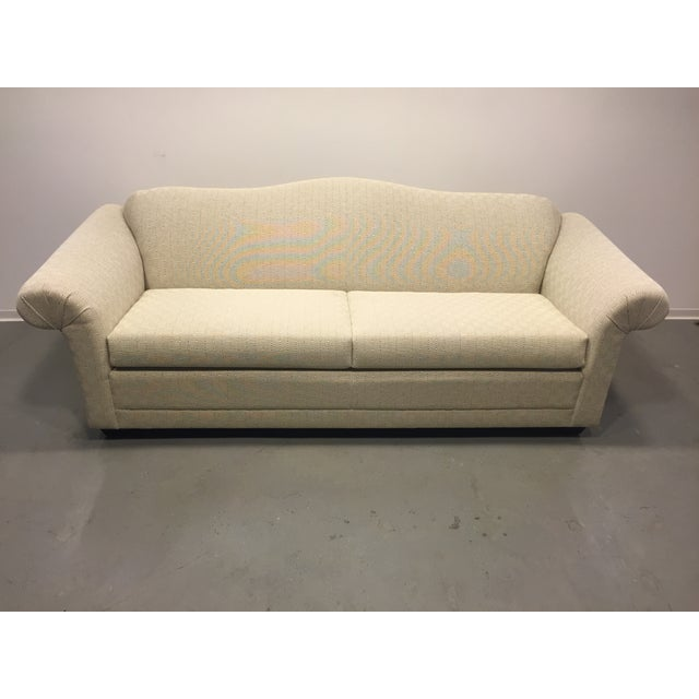 Contemporary Beige Upholstered Sofa - Image 3 of 7
