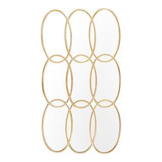 Gold Oval Circles Mirror