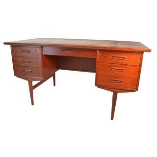 Danish Modern Free Standing Teak Desk