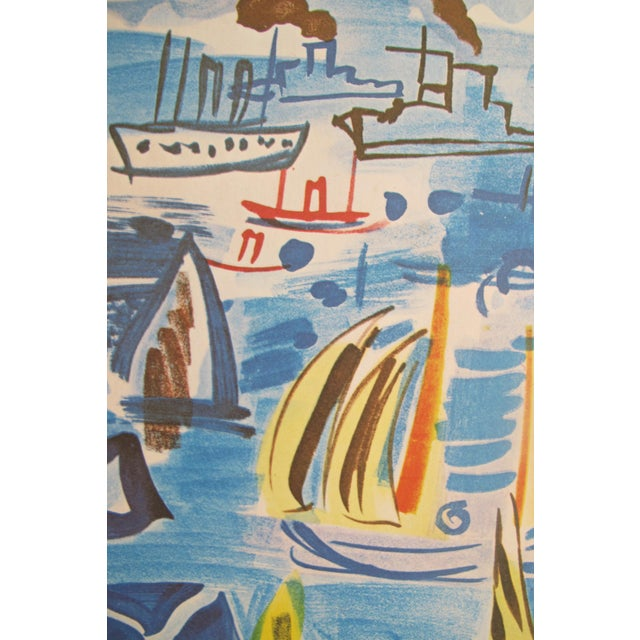 1954 Original Vintage French Exhibition Poster, Minimalist Poster, Hommage à Raoul Dufy - Image 6 of 6