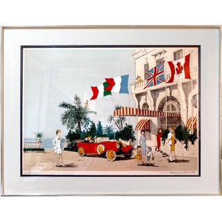 Denis Paul Noyer 'Flags' Lithograph