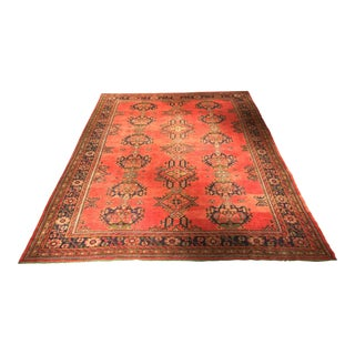 "Antique Turkish Oushak Rug - 9'4"" x 12'4"""