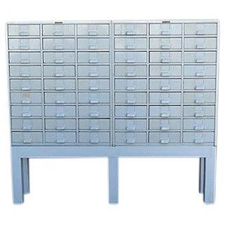 Vintage Metal Index Cabinet