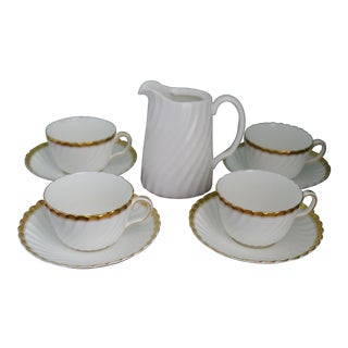 English Mintons Cups, Saucers & Pitcher - Set of 5