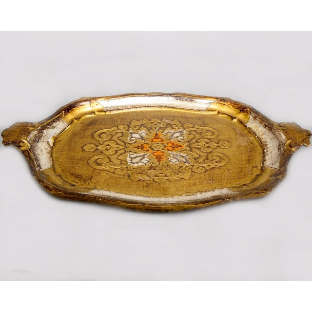 Italian Hand-Painted & Gilded Florentine Tray - Image 4 of 6