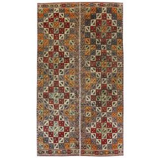 Vintage Turkish Kilim Flatweave -- 4'11 x 9'