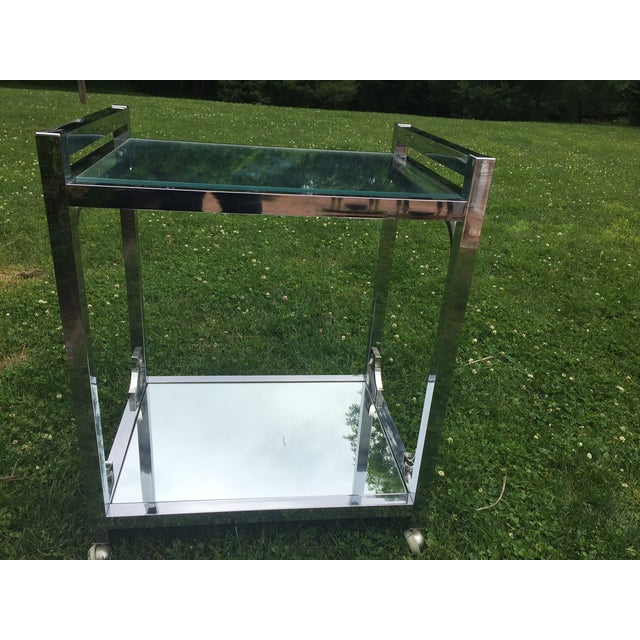 Mid-Century Chrome Bar Cart - Image 2 of 6