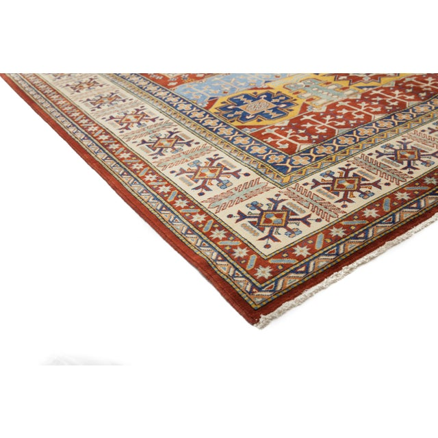 Traditional Hand Knotted Area Rug - 6′10″ × 10′8″ - Image 2 of 3
