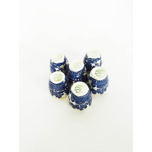 Image of Vintage Blue & White Arklow Shot Cups - Set of 6