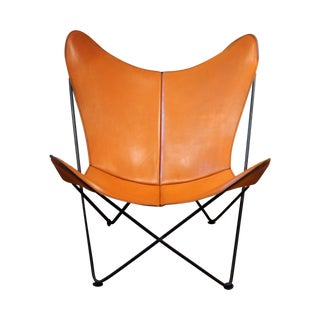 Mid-Century Leather Butterfly Chair