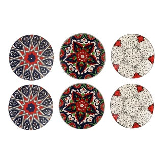 Iznik Pottery Coasters | Medallion