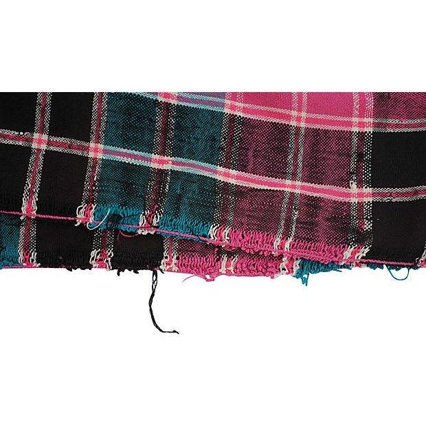 Vintage Moroccan Cotton Blanket - Image 5 of 6