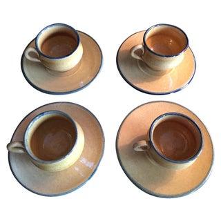 Antique Demitasse Cups & Saucers - 8 Pieces