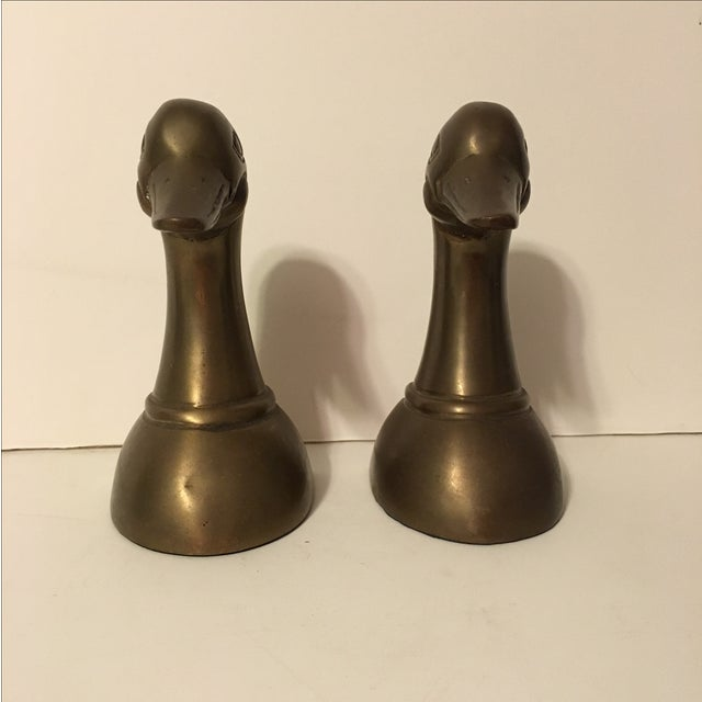 Vintage Brass Mallard Bookends - A Pair - Image 3 of 6
