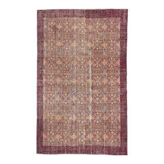 Vintage Turkish Floral Rug - 6′11″ × 11′