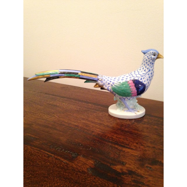 Image of Herend Fishnet Pheasant Figurine