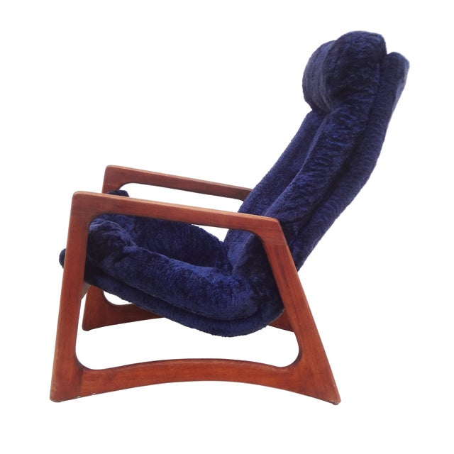 Adrian Pearsall for Craft Blue Lounge Chair - Image 2 of 10