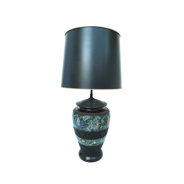 Japanese Champlevé Bronze Table Lamp - Image 1 of 6