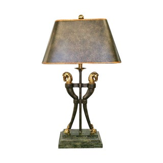 Maitland-Smith Brass Horse Table Lamp