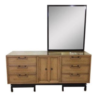 American of Martinsville Asian Style 9-Drawer Dresser With Mirror
