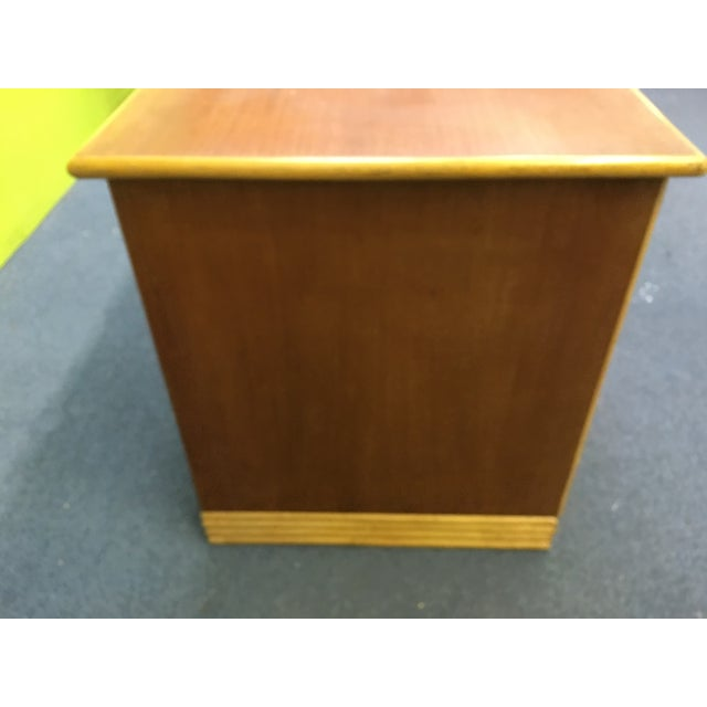 Image of Mid Century Rattan Desk, Frankl Ritts Style
