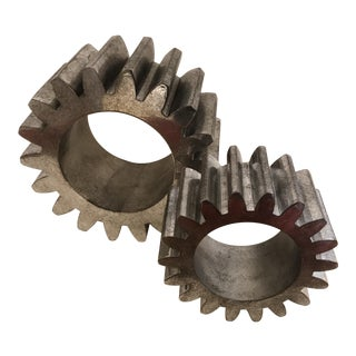 Industrial Sculptural Gears - A Pair