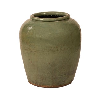 Ceramic Olive Green Planter