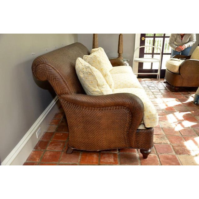 Hickory Chair Company Rattan Three Seat Sofa Couch Chairish