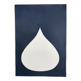 'Fat Drop of Cream on Navy Blue' Painting
