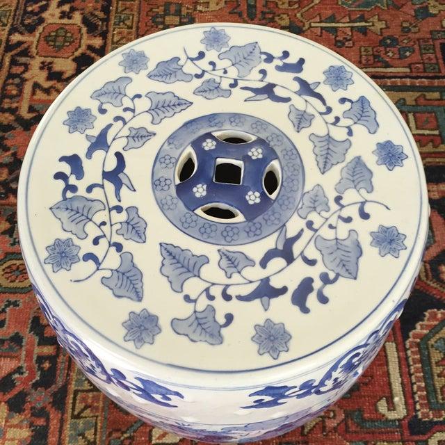 Large Chinoiserie Ceramic Garden Stool - Image 9 of 9