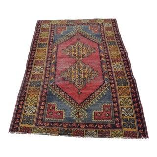 Handmade Tribal Carpet - 3′11″ × 6′