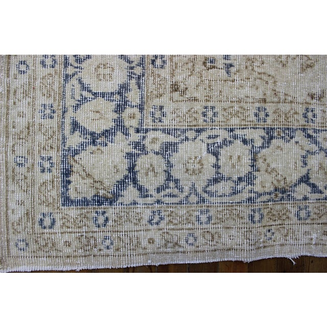 "Vintage Turkish Over-Dyed Cream Rug - 6'7"" x 9'7"" - Image 7 of 8"
