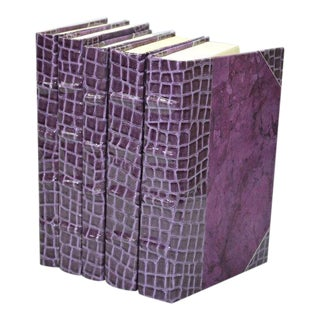 Exotic Collection Croc II Lilac Books - Set of 5