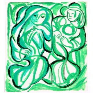 Figures in Green by Phillip Callahan
