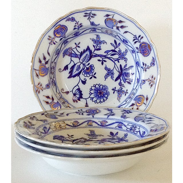 Image of English Soup Bowls by T.C. Brown - Set of 4