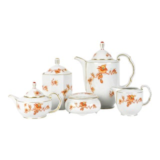 Vintage European Porcelain Tea & Coffee Service - Set of 5