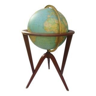 Edward Wormley for Dunbar Illuminated Terrestrial Globe