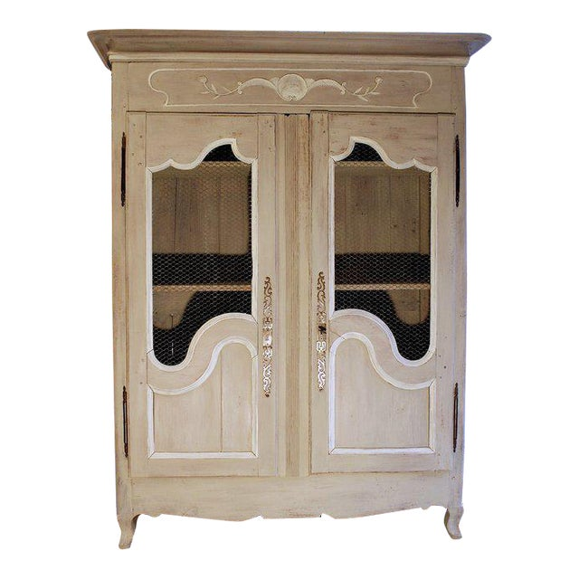 French Provincial Louis XV Style Grey Painted Armoire - Image 1 of 10