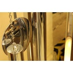 Image of Mid-Century Rosewood & Chrome Grandfather Clock